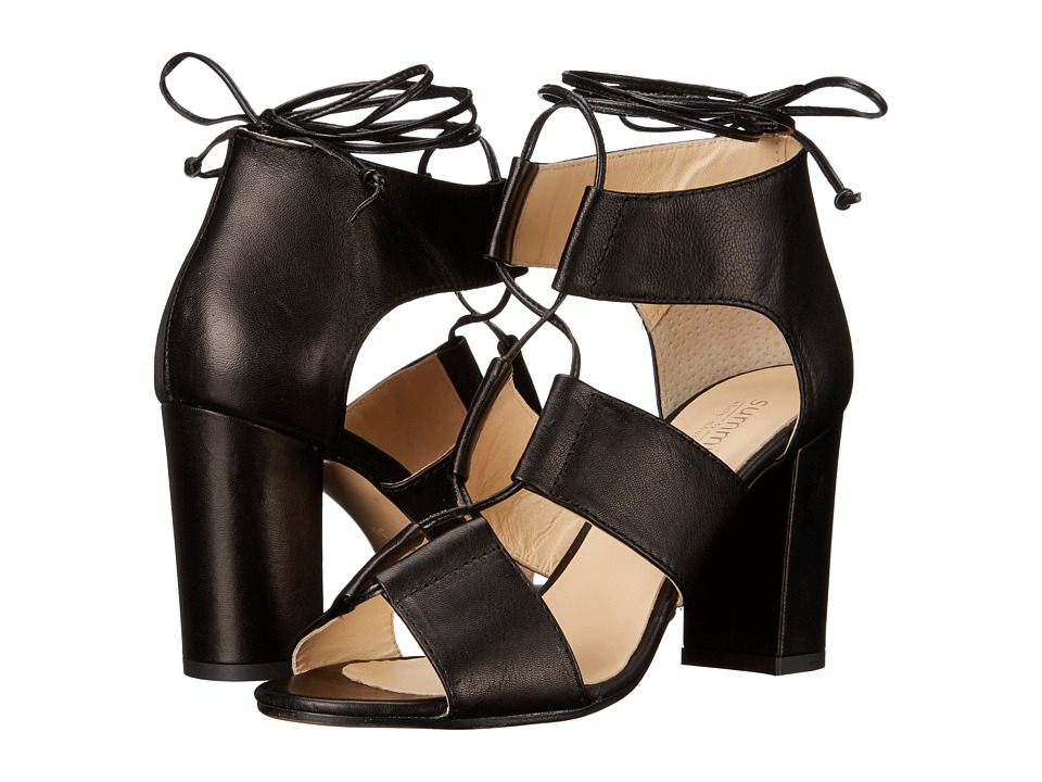 Summit by White Mountain Myndee (Black Leather) High Heels