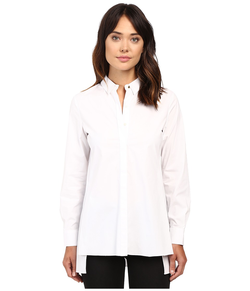 Ellen Tracy - Stepped Hem Shirt (E White) Women's Clothing