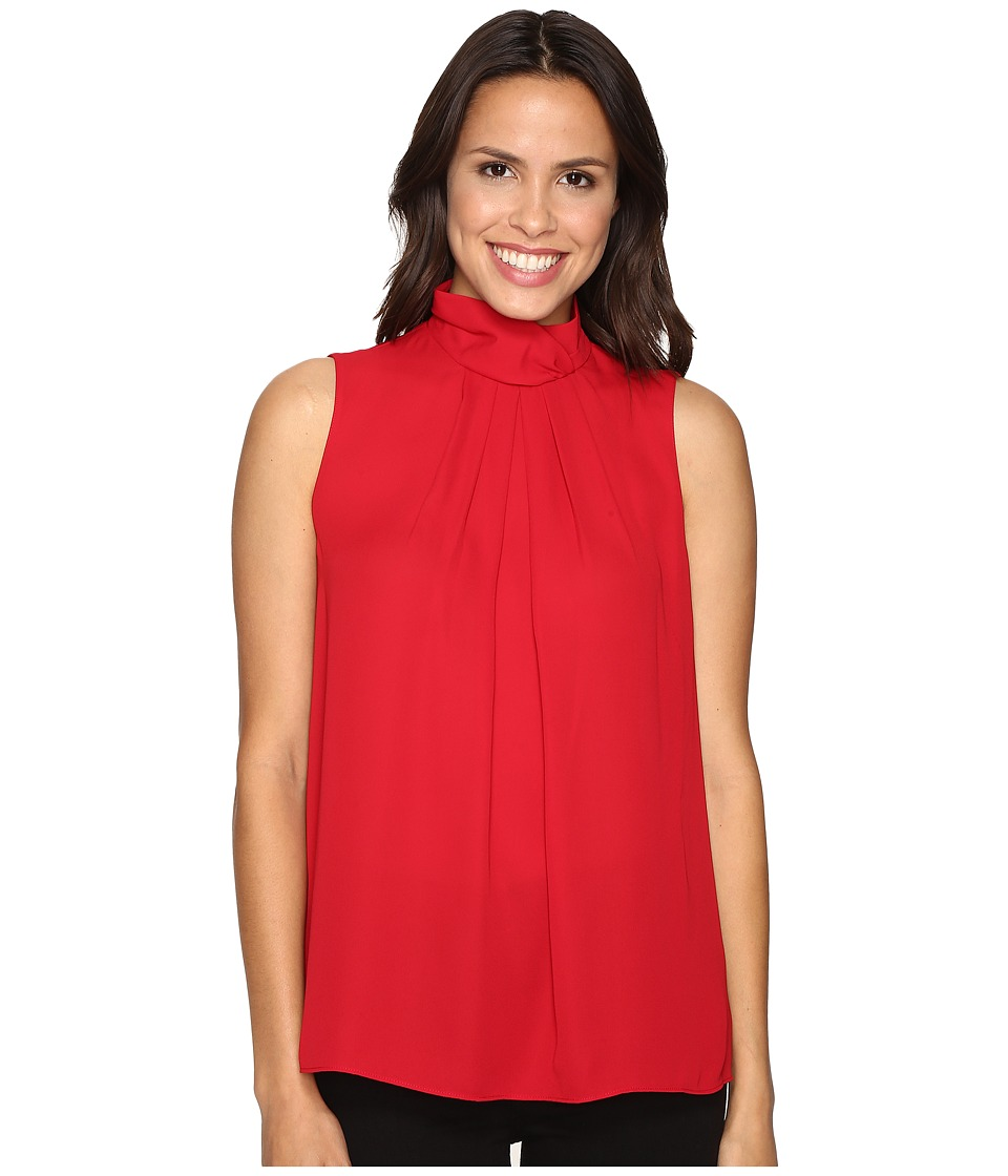Ellen Tracy - High Neck Shell (Rouge) Women's Clothing