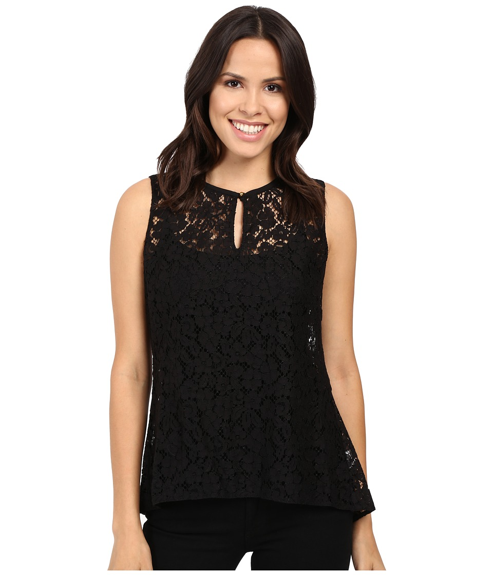 Ellen Tracy - Peplum Back Shell (E Black) Women's Clothing