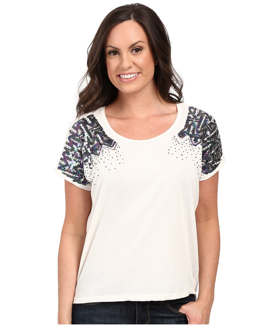 Rock and Roll Cowgirl - Short Sleeve Dolman 47-7239 (White) Women's Short Sleeve Pullover