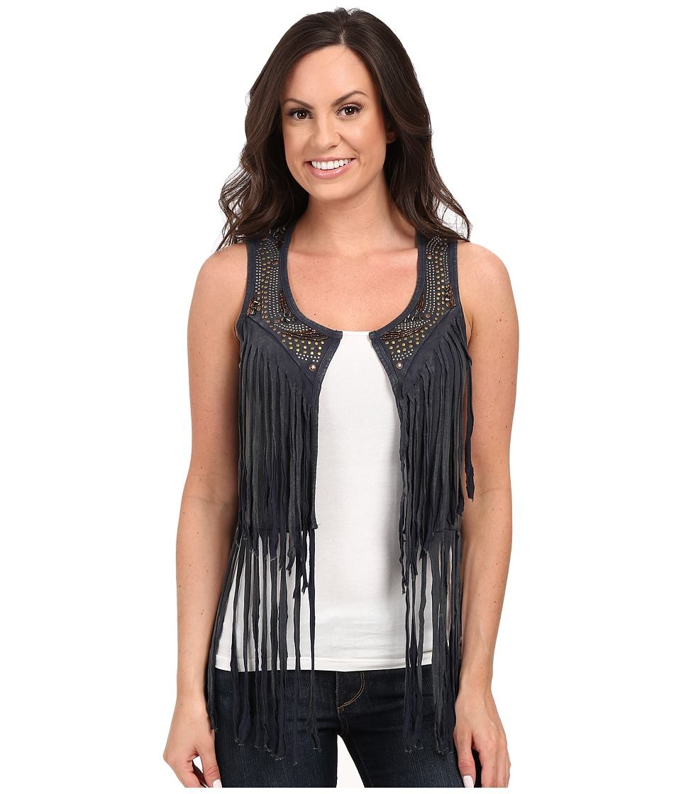Rock and Roll Cowgirl - Vest 49V7259 (Charcoal) Women's Vest
