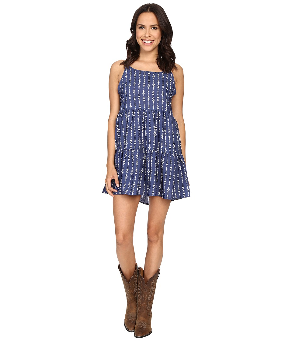 Rock and Roll Cowgirl - Spaghetti Strap D5-7671 (Light Navy) Women's Clothing