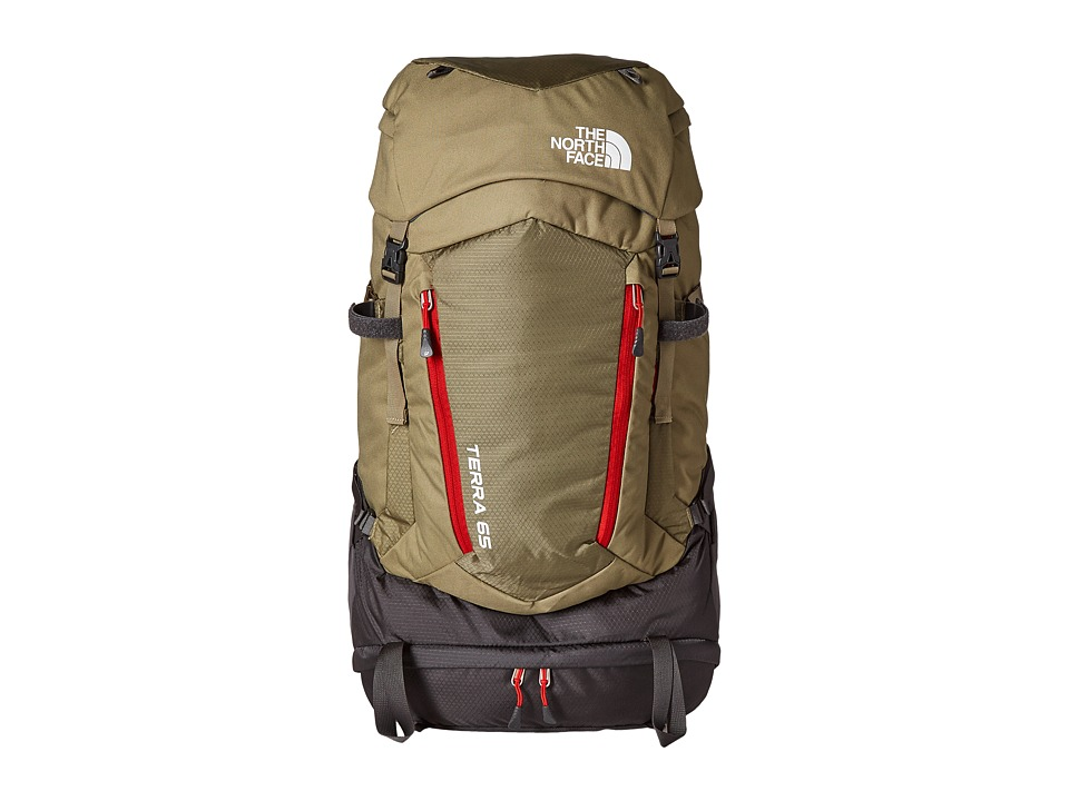 The North Face - Terra 65 (Mountain Moss/Pompeian Red 1) Backpack Bags