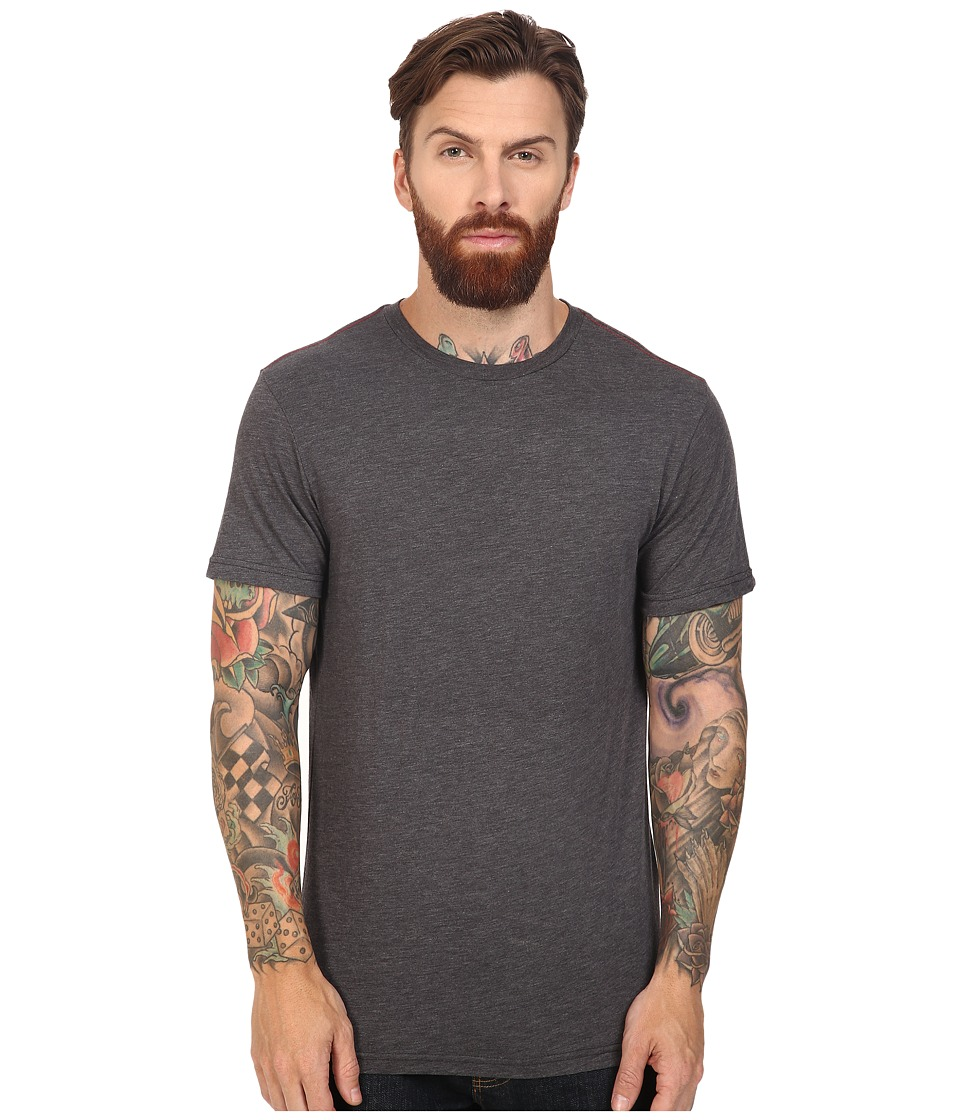 RVCA - Label Vintage Dye Tee (Black) Men's T Shirt