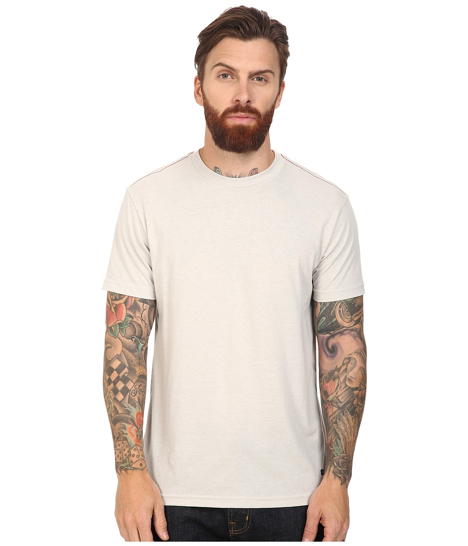 RVCA - Label Vintage Dye Tee (Cool Grey) Men's T Shirt