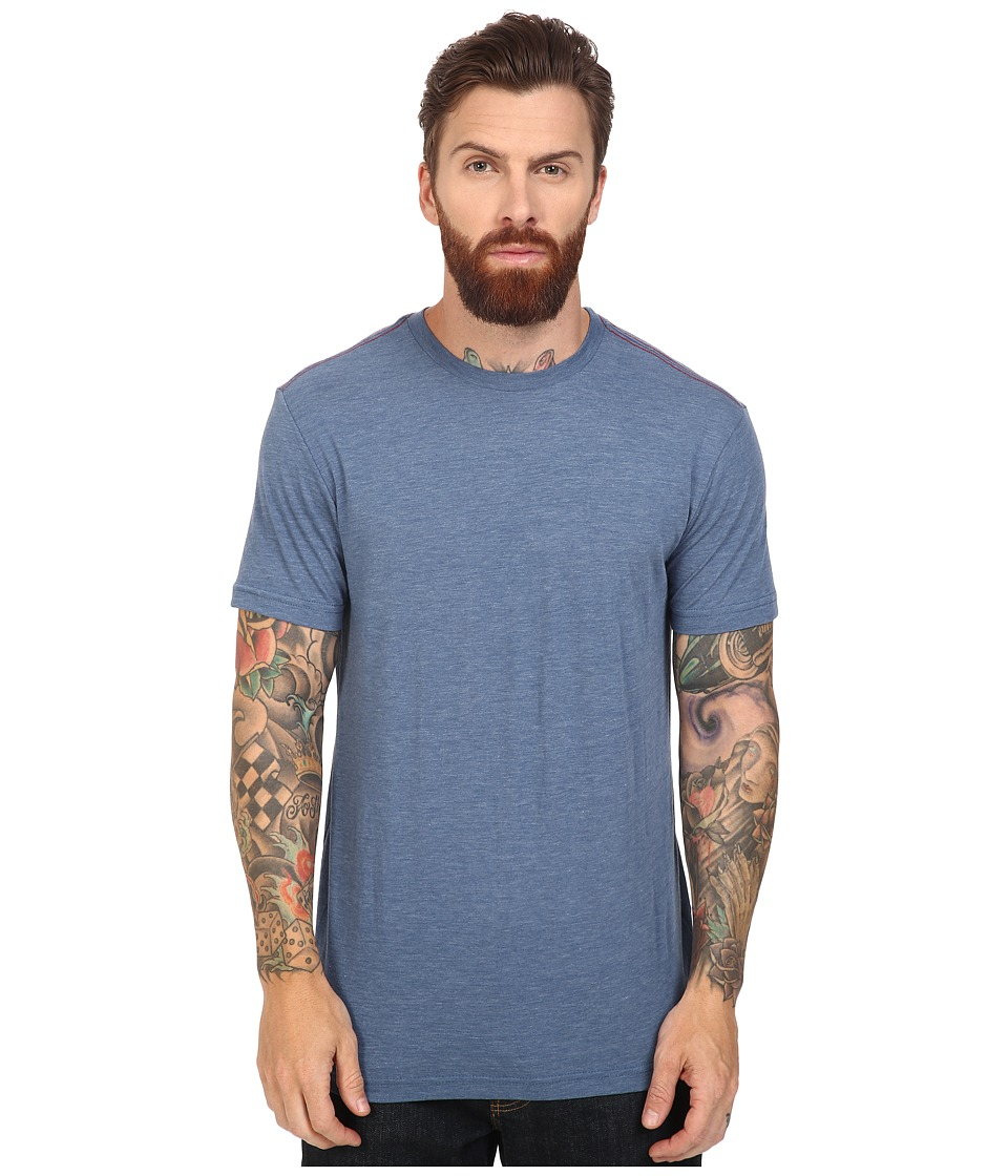 RVCA - Label Vintage Dye Tee (Stellar Blue) Men's T Shirt
