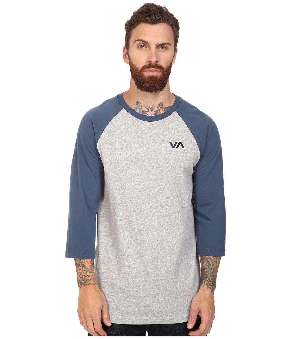 RVCA - Two Color VA Raglan (Dark Denim) Men's Clothing