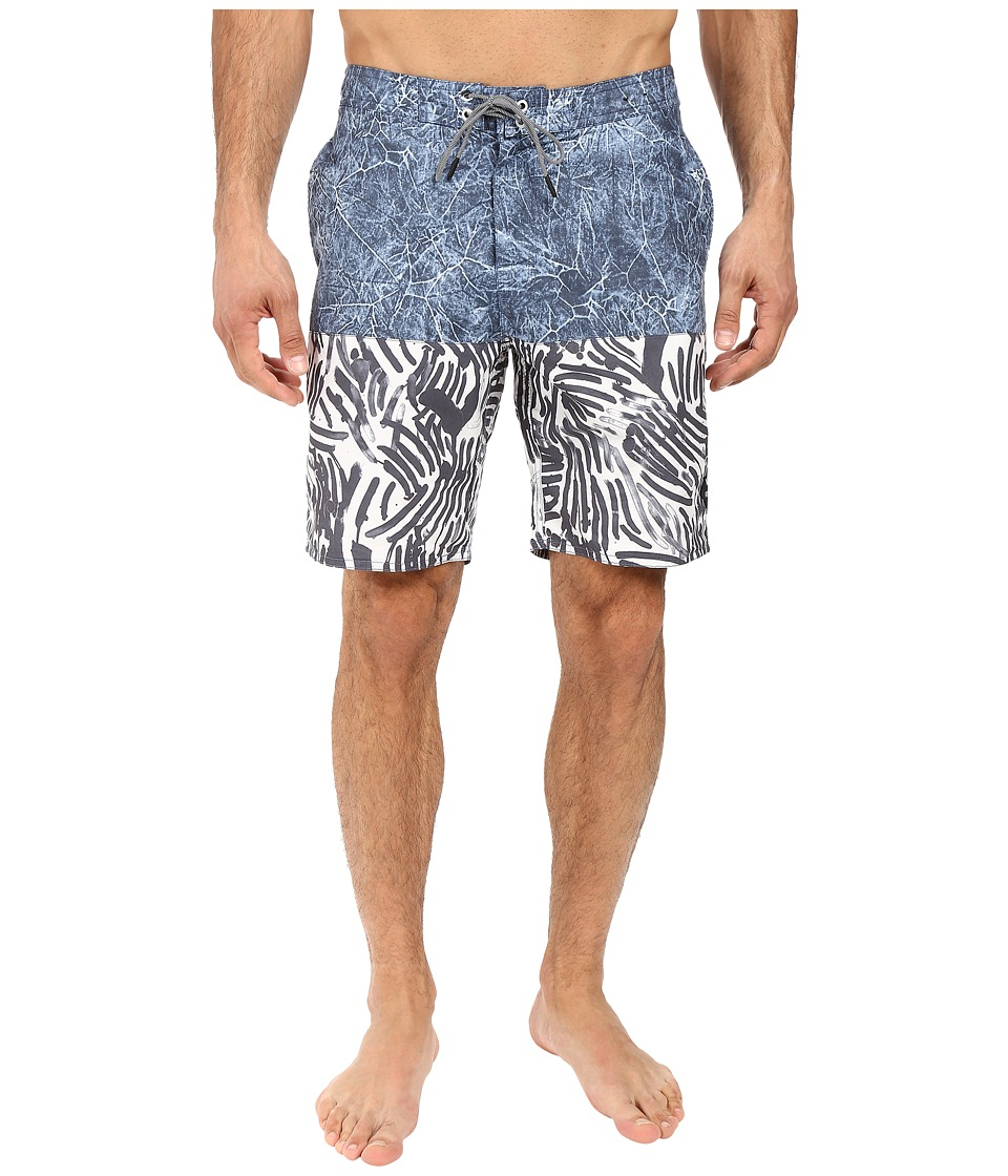 RVCA - Stepper Trunk (Dark Denim) Men's Swimwear