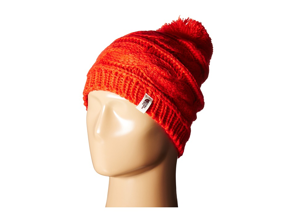 The North Face - Triple Cable Pom Beanie (High Risk Red) Beanies