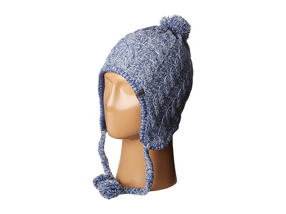 The North Face - Fuzzy Earflap Beanie (Arctic Ice Blue/Coastal Fjord Blue) Beanies