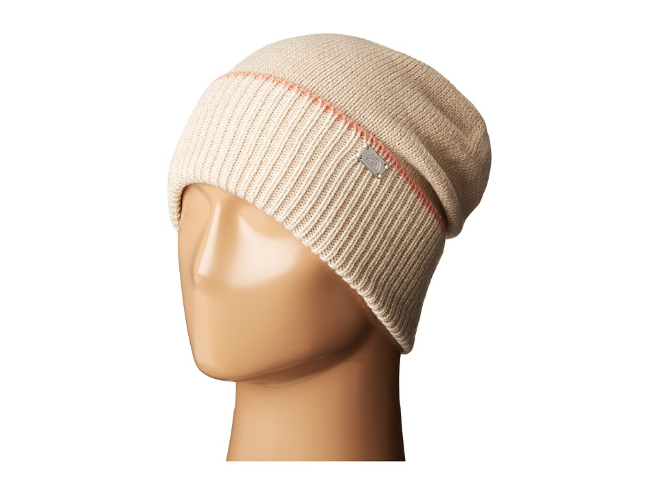 The North Face - TNF Cuffed Beanie (Doeskin Brown/Vintage White) Beanies