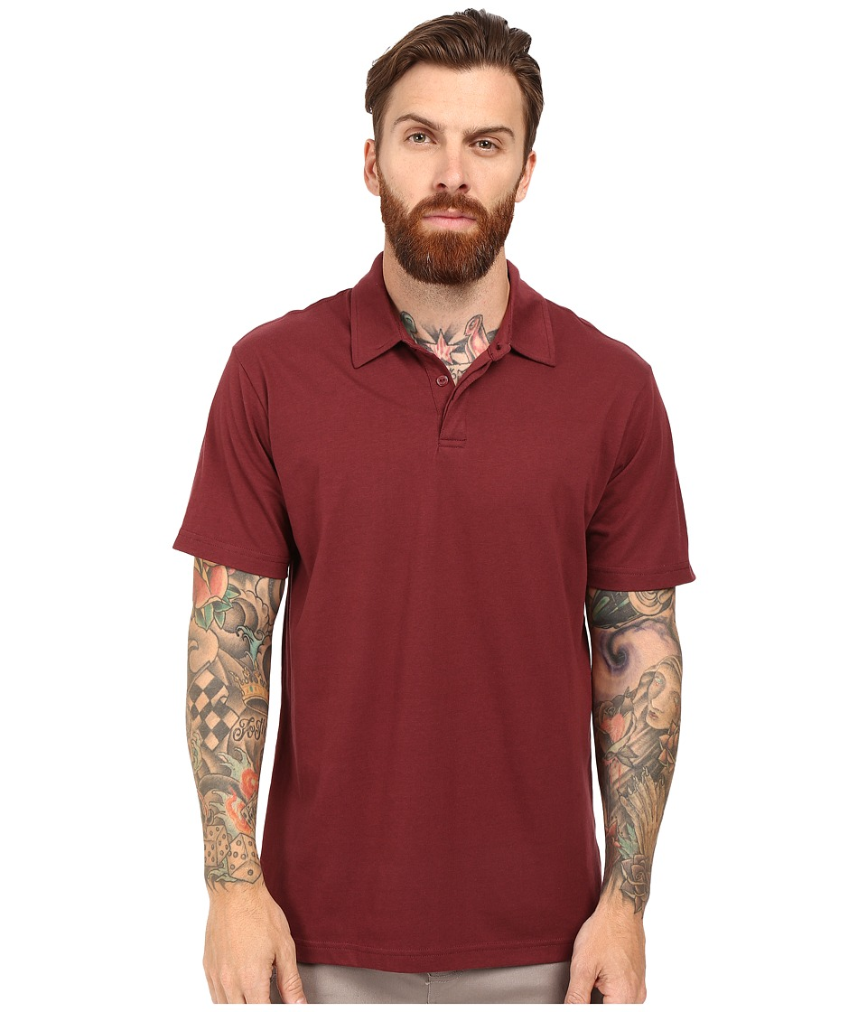 RVCA - Sure Thing II Polo (Tawny Port) Men's Short Sleeve Knit