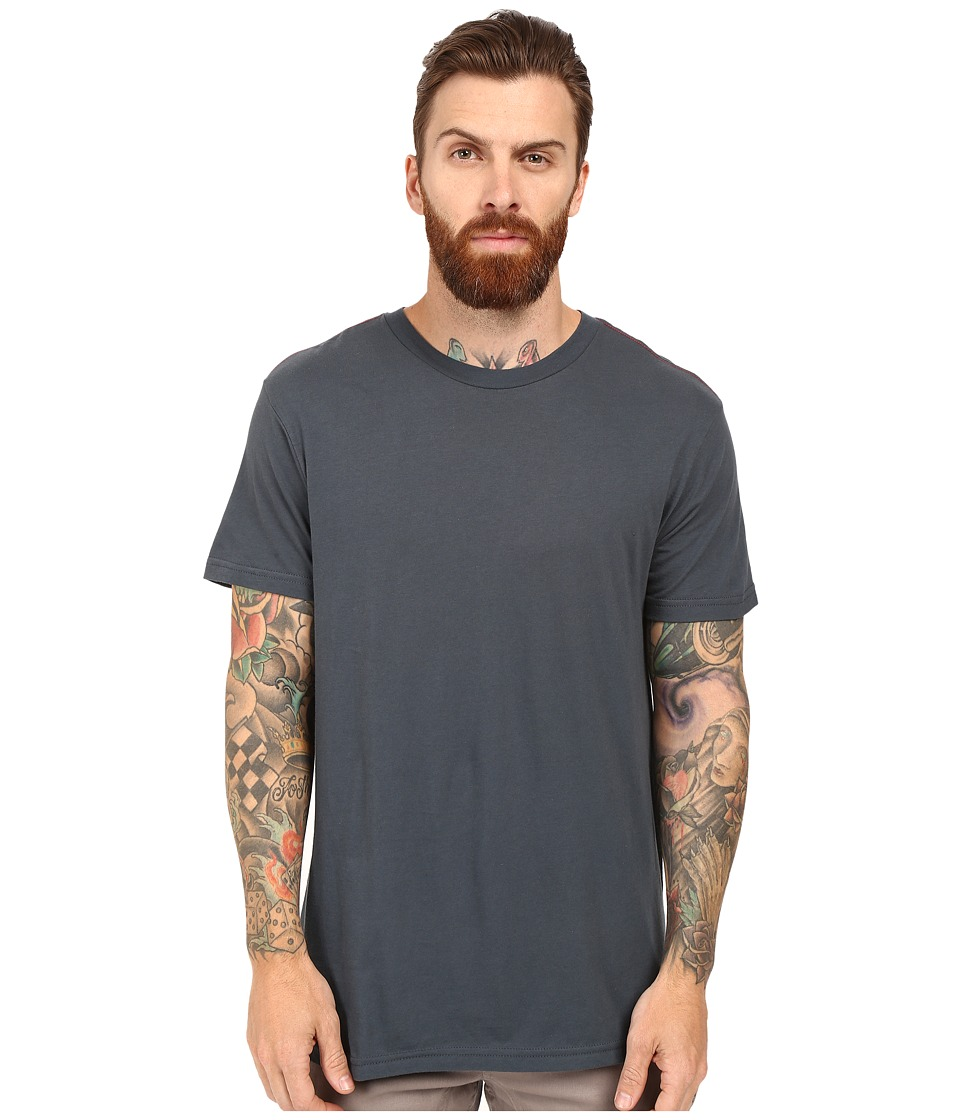 RVCA - Label Vintage Wash Tee (Midnight) Men's T Shirt