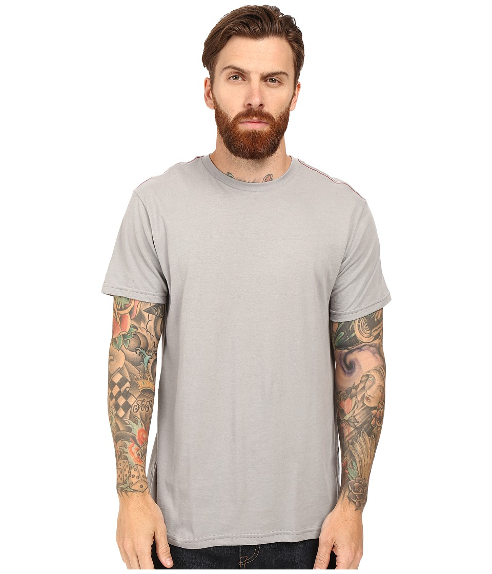 RVCA Label Vintage Wash Tee (Monument) Men