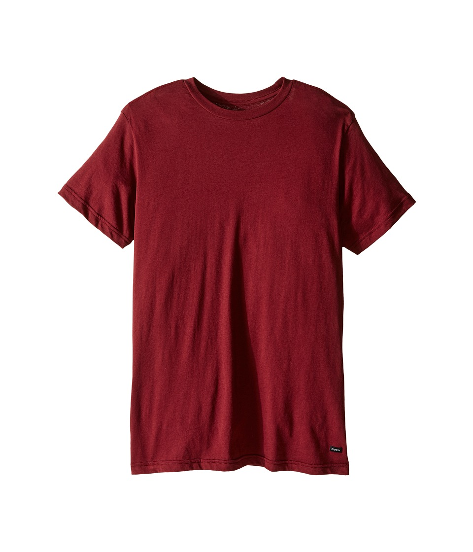 RVCA - Label Vintage Wash Tee (Tawny Port) Men's T Shirt