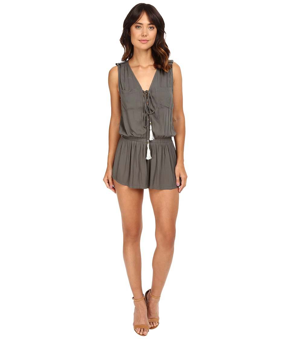 Young Fabulous & Broke - Vara Romper (Olive) Women's Jumpsuit & Rompers One Piece