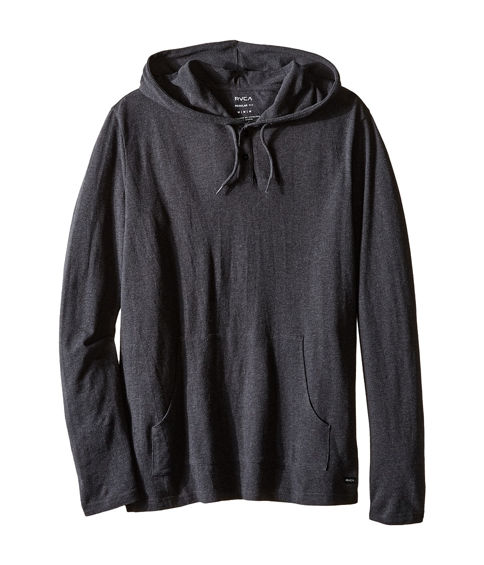 RVCA - Pick Pullover Knit II (Charcoal Heather) Men's Clothing