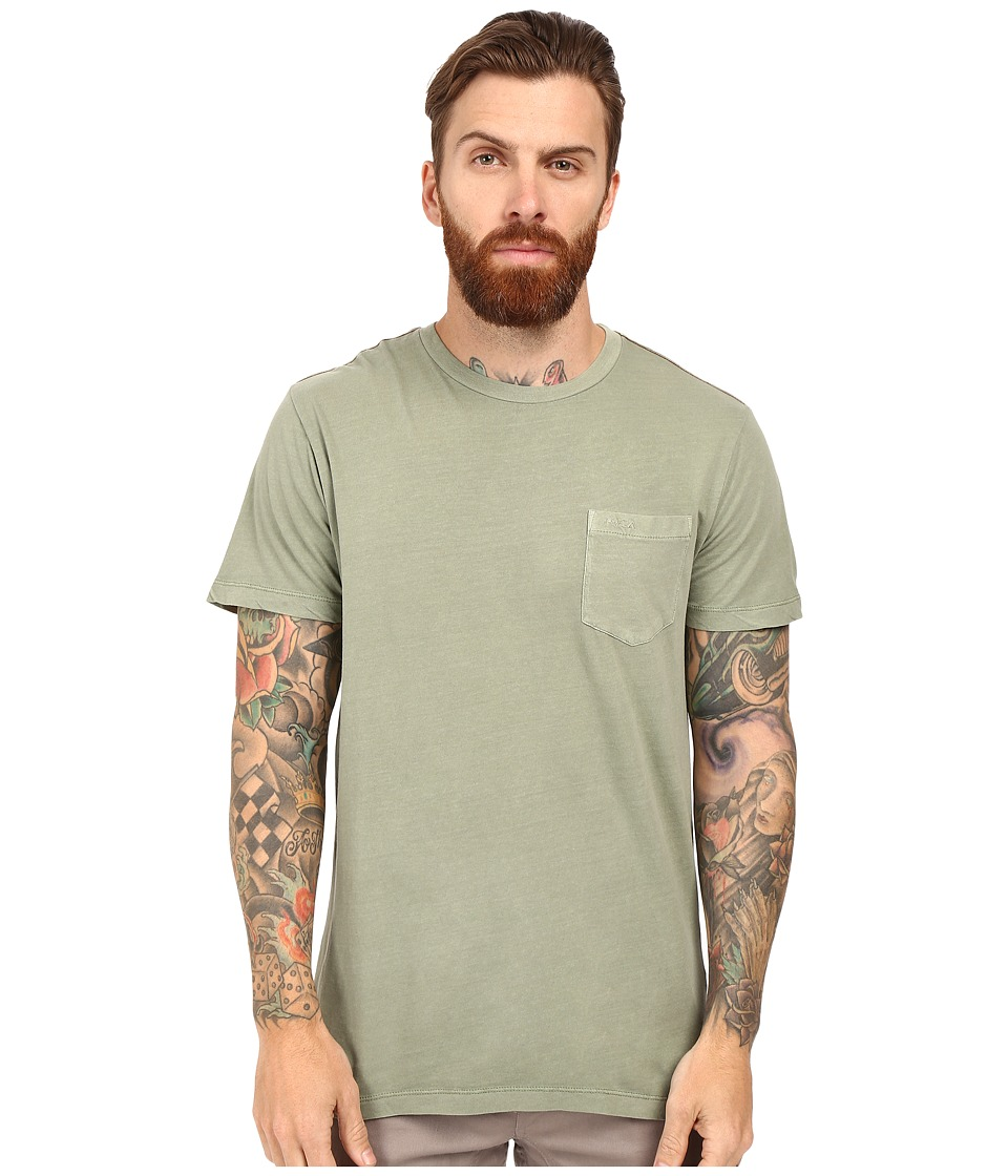 RVCA - PTC 2 Pigment Knit Tee (Cadet Green) Men's T Shirt