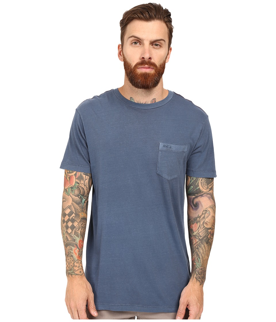 RVCA - PTC 2 Pigment Knit Tee (Dark Denim) Men's T Shirt