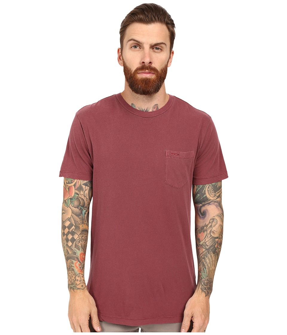 RVCA - PTC 2 Pigment Knit Tee (Tawny Port) Men's T Shirt