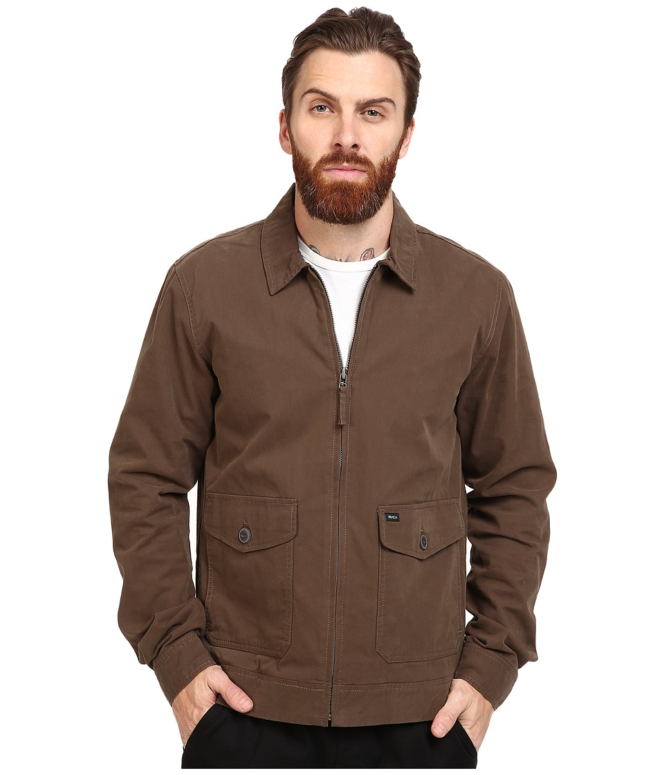 RVCA - Gilmore Jacket (Dark Chocolate) Men's Coat