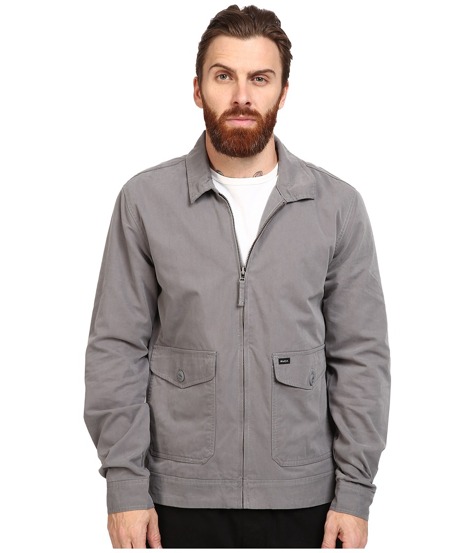 RVCA - Gilmore Jacket (Smoke) Men's Coat
