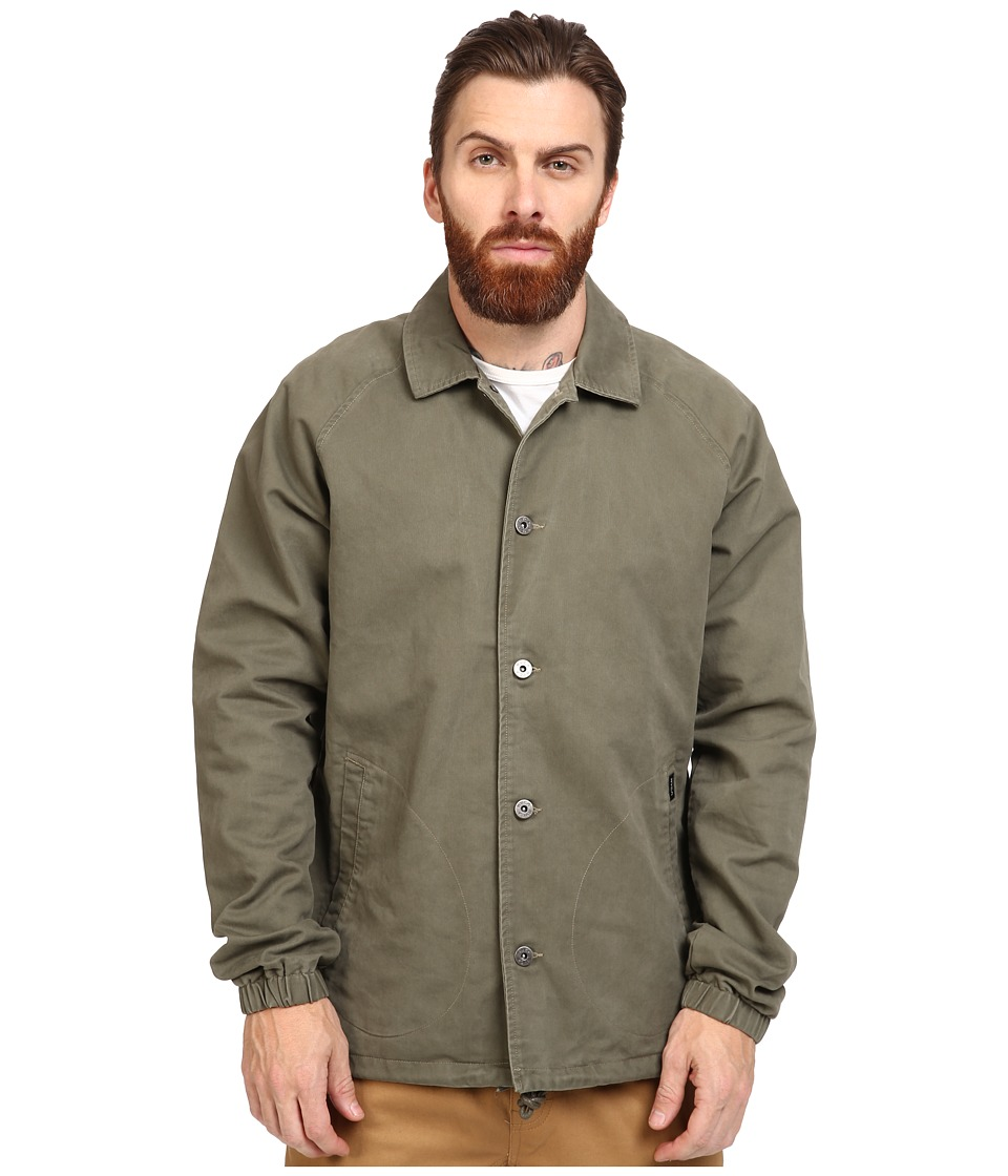 RVCA - MVP Coach's Jacket (Leaf) Men's Coat