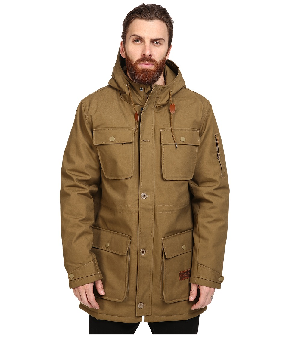 RVCA - Wright III Parka (Bark) Men's Coat