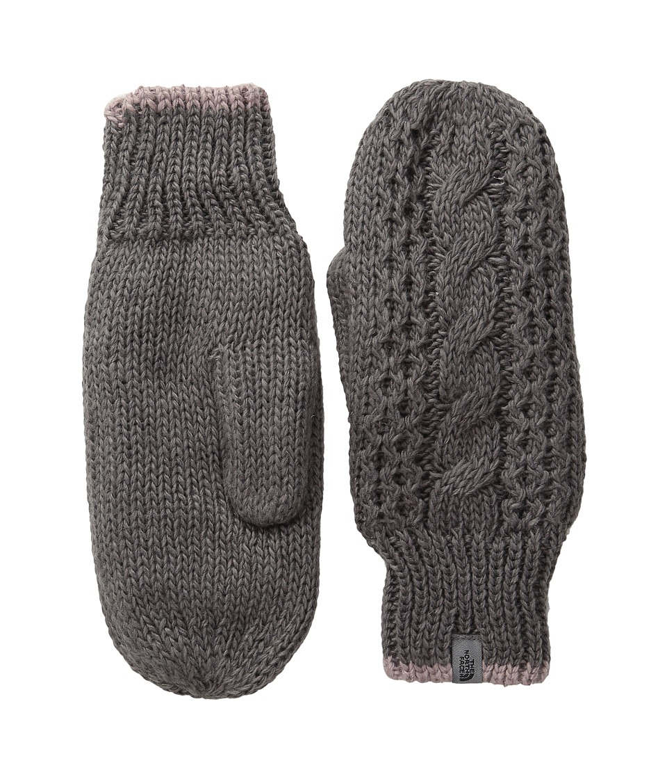 The North Face - Cable Knit Mitt (Rabbit Grey/Quail Grey) Extreme Cold Weather Gloves