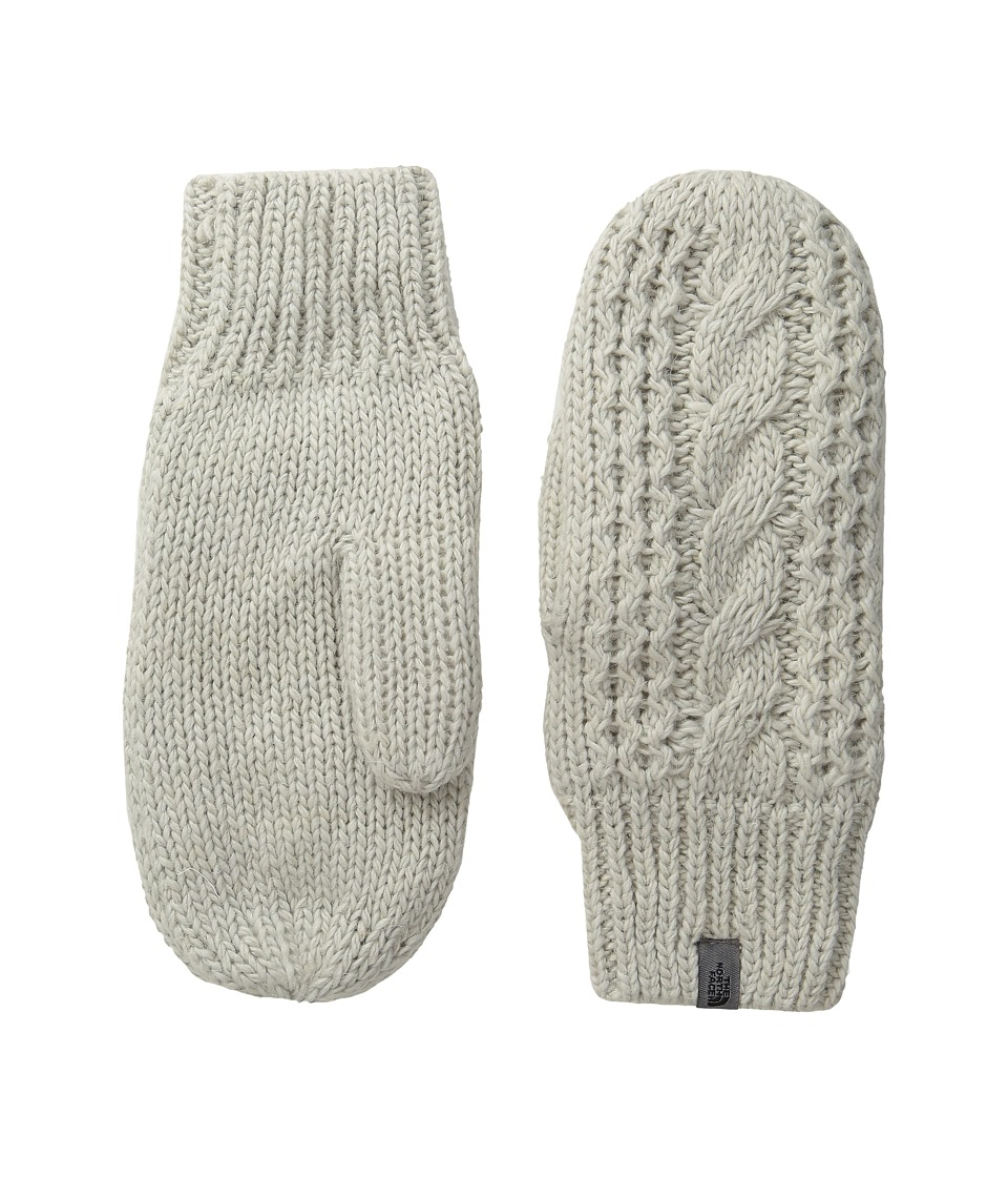 The North Face - Cable Knit Mitt (Lunar Ice Grey) Extreme Cold Weather Gloves