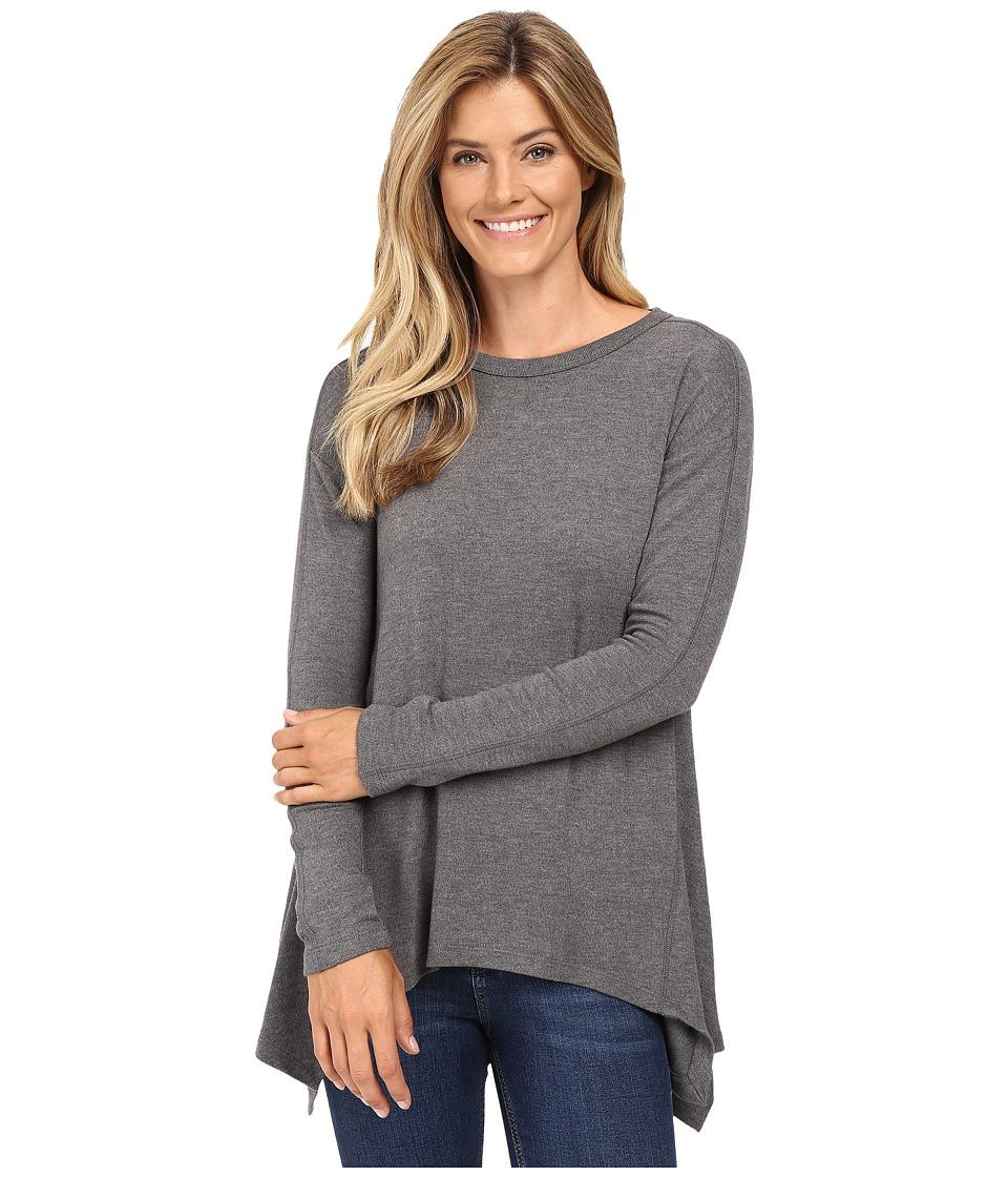 Karen Kane - Paneled Handkerchief Top (Dark Heather Grey) Women's Clothing
