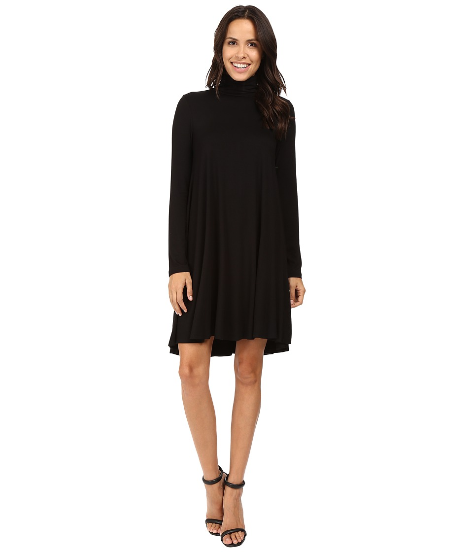 Karen Kane - Turtleneck Maggie Trapeze Dress (Black) Women's Dress