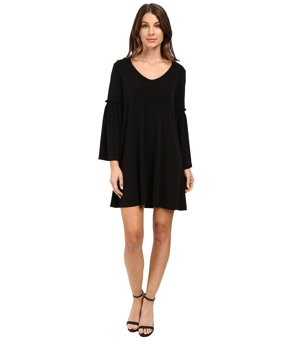 Karen Kane Bell Sleeve Dress (Black) Women