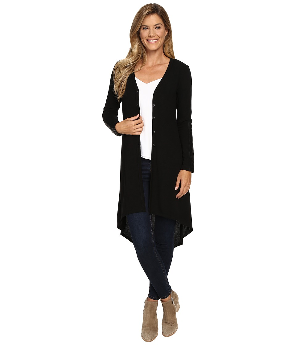 Karen Kane - Hi-Lo Duster (Black 2) Women's Clothing