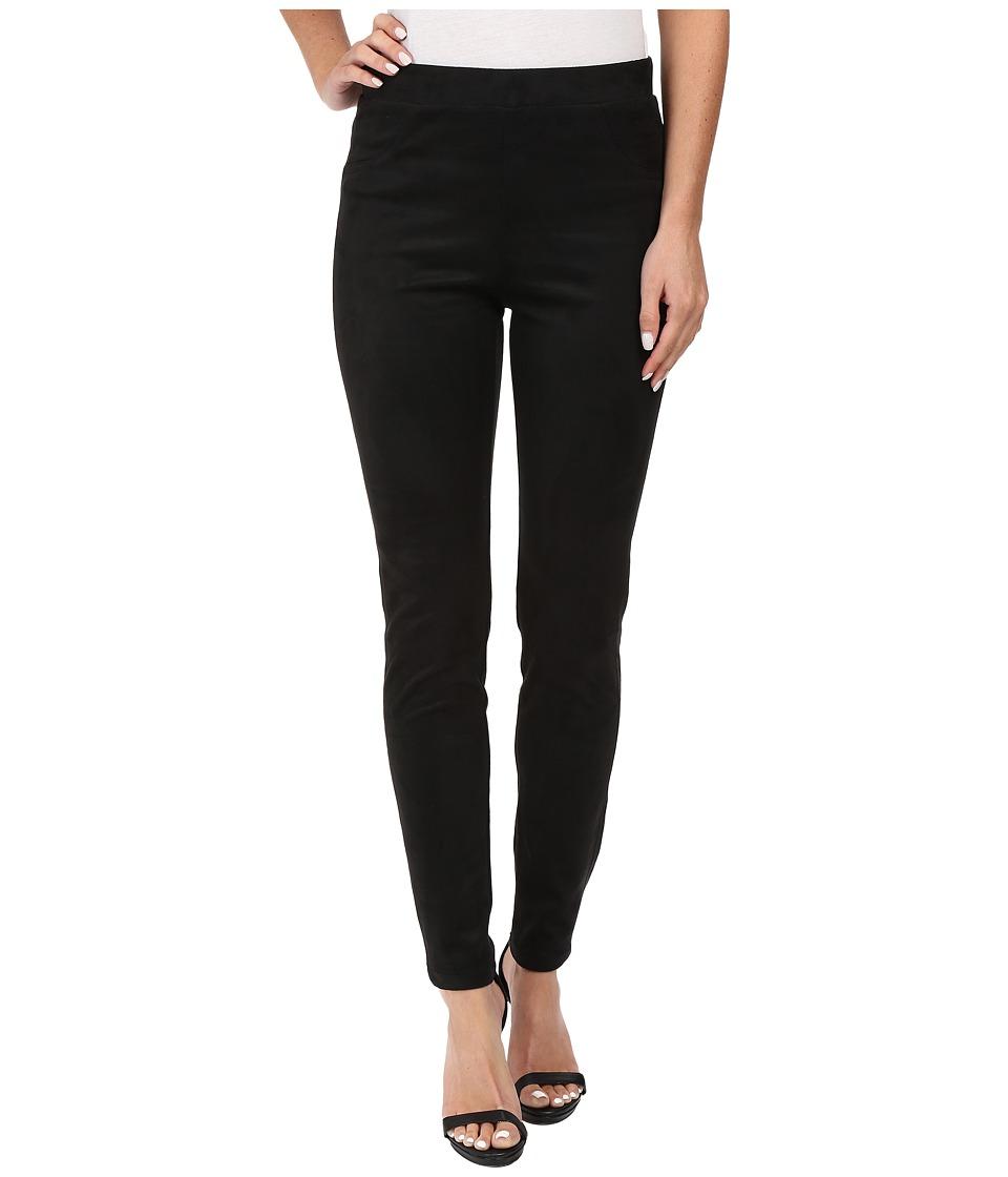 Karen Kane Faux Suede Pants (Black) Women's Casual Pants