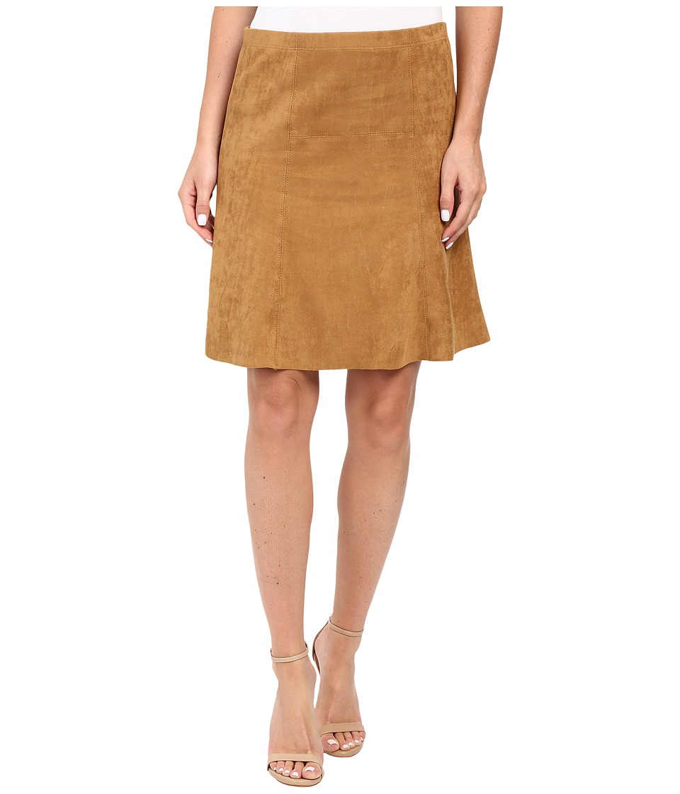 Karen Kane - Flared Faux Suede Skirt (Camel) Women's Skirt