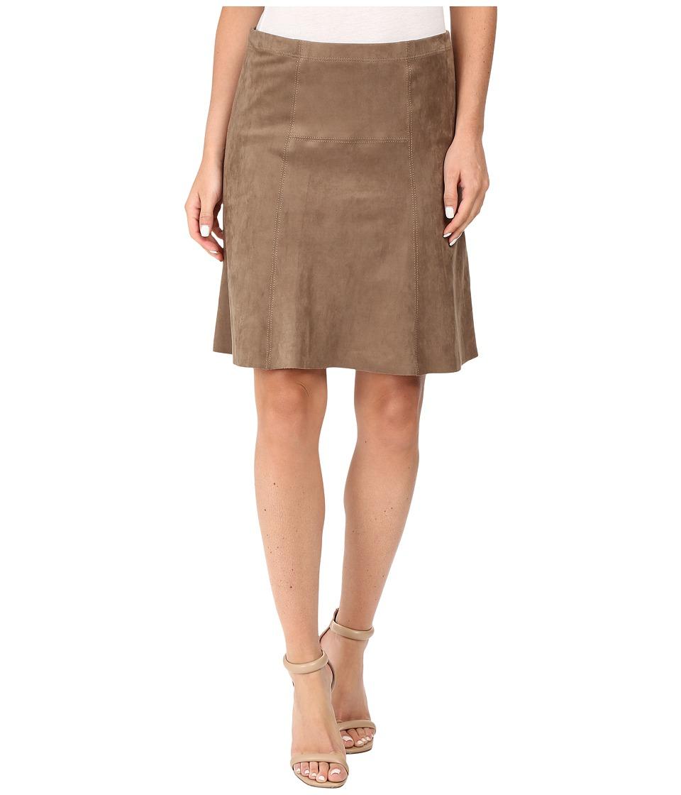 Karen Kane - Flared Faux Suede Skirt (Mushroom) Women's Skirt