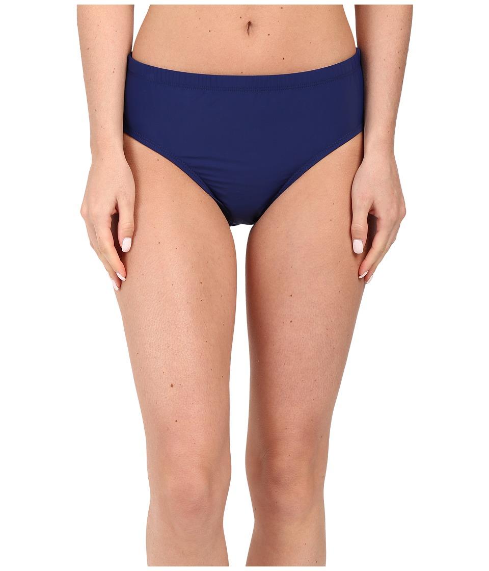 Athena - Cabana Solids Mid Waist Pant (Navy) Women's Swimwear