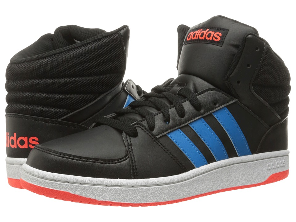 adidas - Hoops VS Mid (Black/Solar Blue/Solar Red) Men's Shoes
