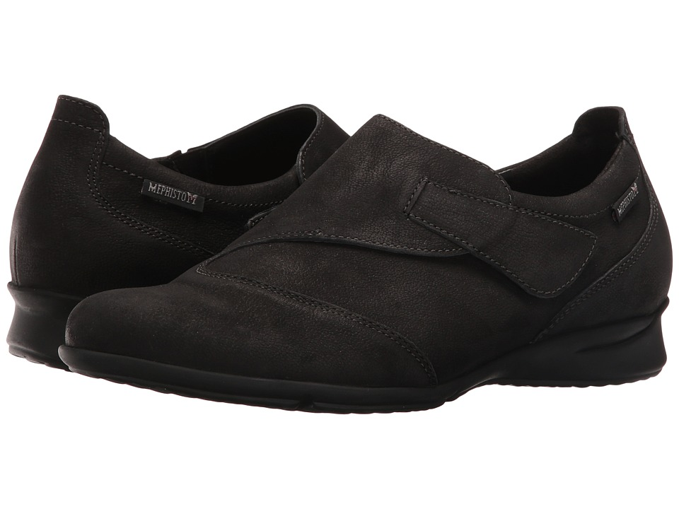 Mephisto - Viviana (Black Greta) Women's Flat Shoes