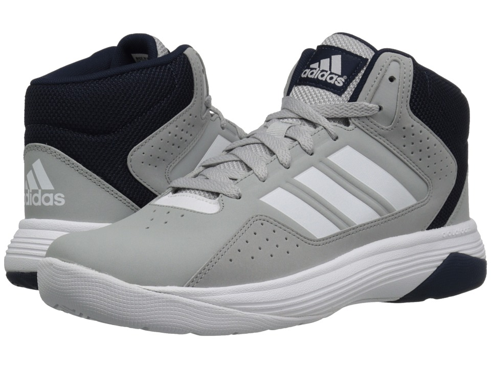 adidas - Cloudfoam Ilation Mid (Clear Onix/Footwear White/Collegiate Navy) Men's Basketball Shoes