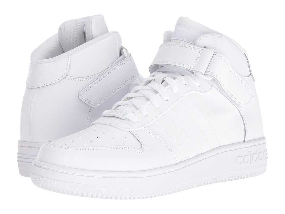adidas - Team Court Mid (Footwear White/Footwear White) Men's Court Shoes