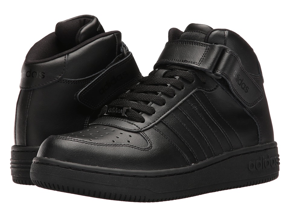 adidas - Team Court Mid (Core Black/Core Black) Men's Court Shoes