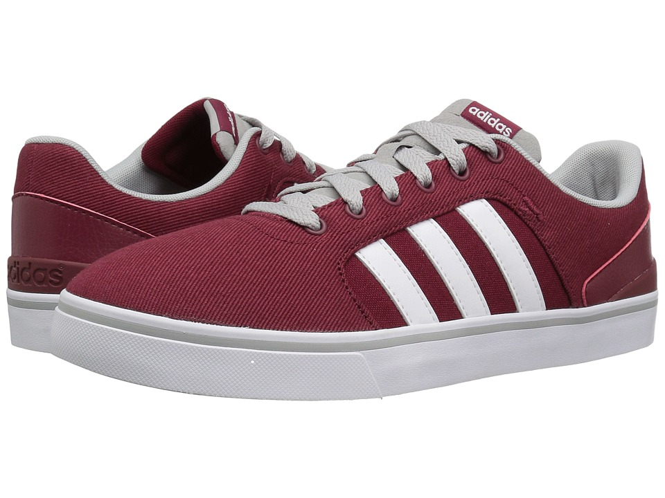 adidas - Hawthorn St (Burgundy/White/Clear Onix) Men's Shoes