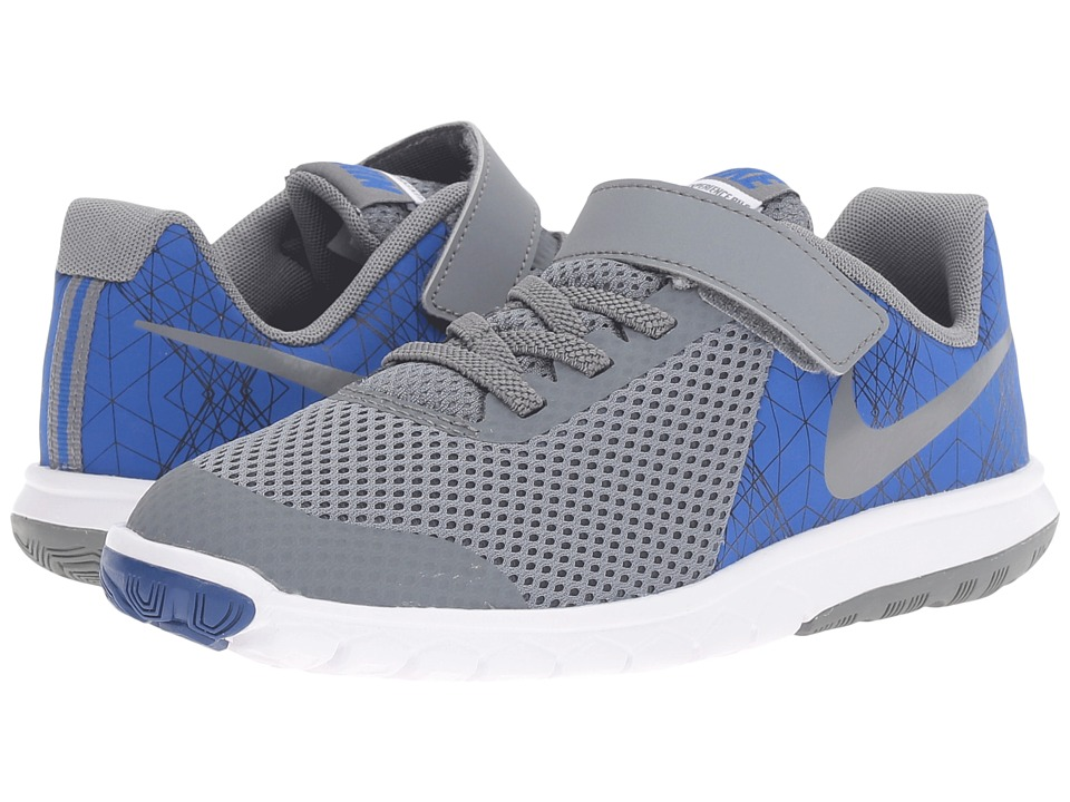 Nike Kids - Flex Experience 5 Print (Little Kid) (Game Royal/White/Black/Cool Grey) Boys Shoes