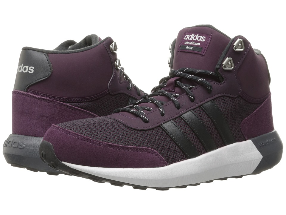 adidas - Cloudfoam Race Winter Mid (Merlot/Grey/Silver) Women's Running Shoes