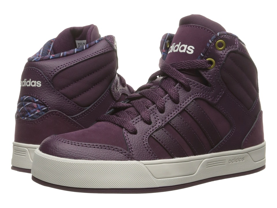 adidas - Raleigh Mid (Merlot/Pearl Grey) Women's Basketball Shoes