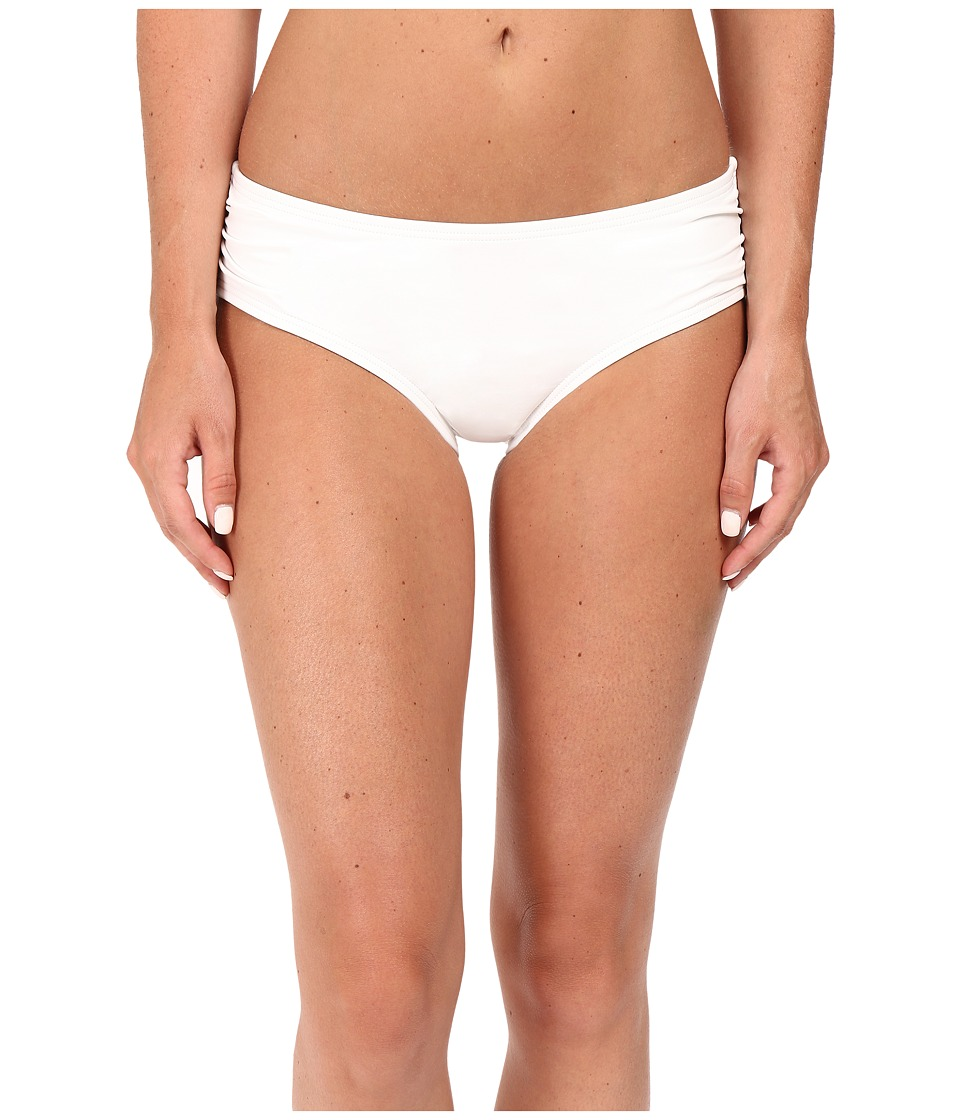 MICHAEL Michael Kors - Bohemian Rhapsody Shirred Hipster Bottom (White) Women's Swimwear