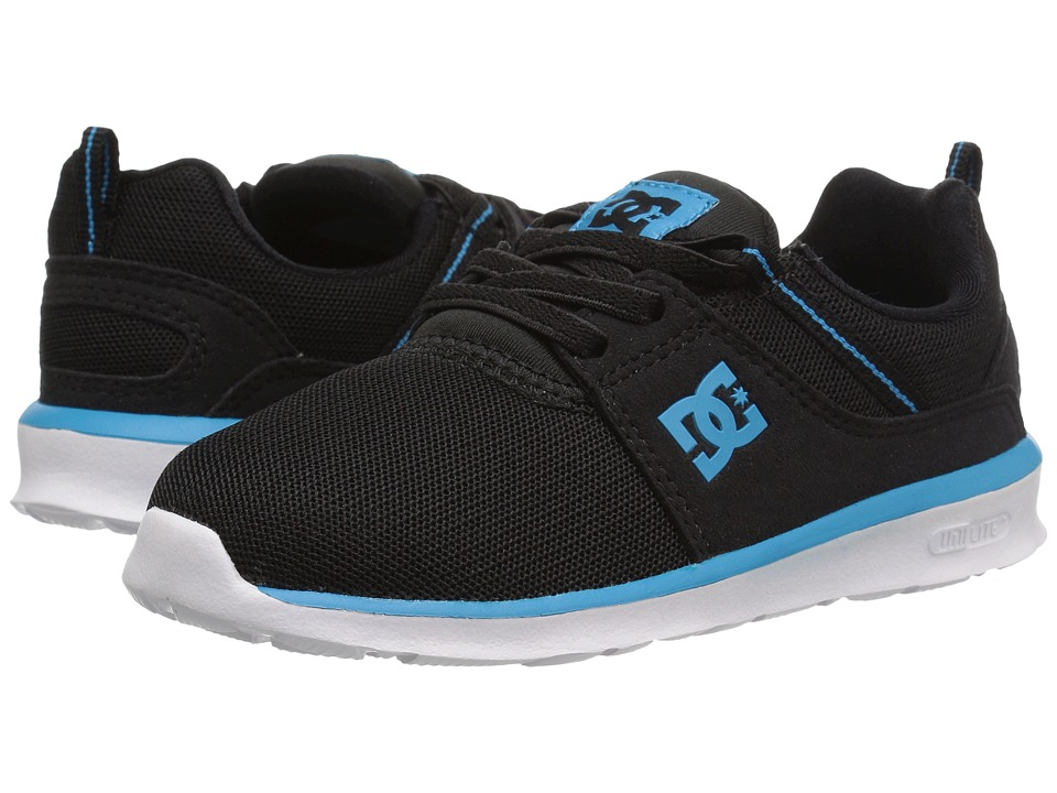 DC Kids - Heathrow (Toddler) (Black/Blue/White) Boys Shoes